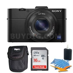 Cybershot DSC-RX100M II Cyber-shot 20.2MP Digital Camera Kit - Black