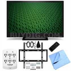 D24H-C1- 24-Inch Full HD 720p 60Hz LED HDTV Slim Flat Wall Mount Bundle