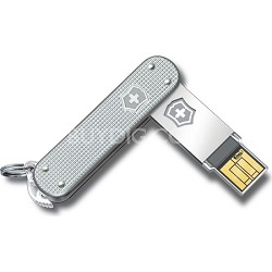 Silver Alox Slim 16GB High Speed USB 2.0 Flash Drive