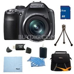 FinePix SL300 14MP CCD Digital Camera 8 GB Bundle