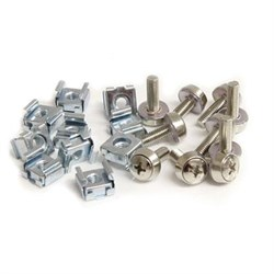 50-Pack M5 Mounting Screws and Cage Nuts for Rack Cabinet - CABSCREWM5