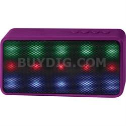 Prysm Wireless Bluetooth Speaker with Dazzling LED Lights - Purple