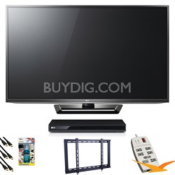 """50PA6500 50"""" Class Plasma HDTV Blu Ray Bundle"""