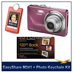 EasyShare M341 Digital Camera (Orchid) + Keychain Photo Viewer Mother's Day Kit