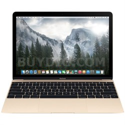 MacBook MK4M2LL/A 12-Inch Laptop with Retina Display 256GB (Gold), Refurbished