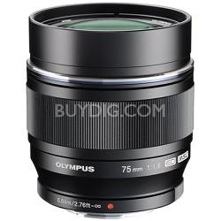 M.ZUIKO DIGITAL ED 75mm f1.8 (Black) Lens - V311040BU000