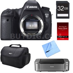 EOS 6D DSLR Camera (Body Only) + Printer / Paper / 32GB Card
