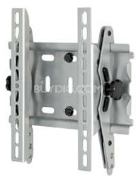 """15"""" to 40"""" inch Universal Flat panel TV wall mount with tilt motion (Silver)"""