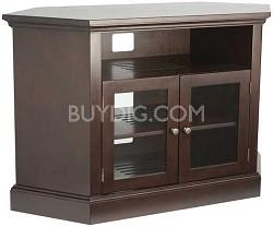"BFAV48 - Corner Unit 4 Shelf A/V Cabinet for TVs up to 52"" (Chocolate Finish)"