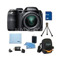 FinePix S4800 30x Optical Zoom 14 MP 3 inch LCD Digital Camera 8 GB Bundle