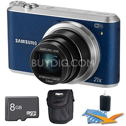 WB350 16.3MP 21x Opt Zoom Smart Camera Blue 8GB Kit