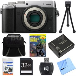 DMC-GX8SBODY LUMIX GX8 4K Interchangeable Lens (DSLM) Camera Body Silver Bundle