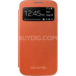 Galaxy S IV S-view Flip Cover Orange