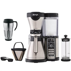 CF086 Coffee Bar Brewer Bundle w/ Thermal Carafe, Milk Frother, and Travel Mug