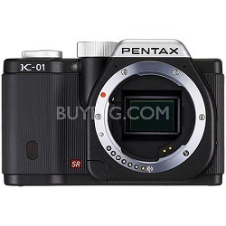 K-01 Digital SLR Black Camera w/ 16 MP, 3 inch LCD, 1080p HD Video