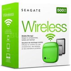 STDC500401 Wireless Mobile Portable Hard Drive Storage 500GB, Green - OPEN BOX