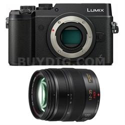 LUMIX GX8 DSLM Black Camera Body and LUMIX G 12-35mm Lens Bundle