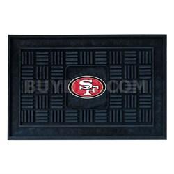 NFL San Francisco 49ers Vinyl Heavy Duty Door Mat