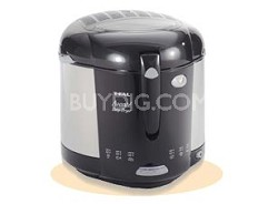 2.75-lb. AvanteNew Deep Fryer, Chrome and Black