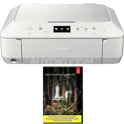Wireless Photo All-in-One Inkjet Cloud Printer (White) + Adobe LR5