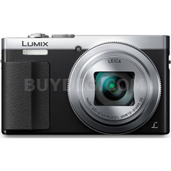 LUMIX ZS50 30X Travel Zoom Silver Digital Camera with Eye Viewfinder - OPEN BOX