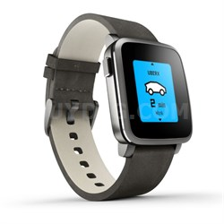Time Steel Smart Watch for iPhone and Android Devices - Black (511-00024)
