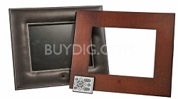 8-inch Digital Picture Frame (leather & wood)
