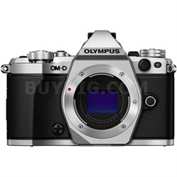 OM-D E-M5 Mark II Micro Four Thirds Digital Camera Body (Silver) Refurbished