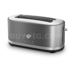 4-Slice Long Slot Toaster with High Lift Lever in Contour Silver - KMT4116CU