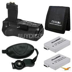 Essential BG-E8 Battery Grip Bundle for EOS Rebel T4I, T3I, and T2I