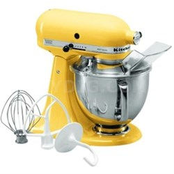 Artisan Series 5-Quart Tilt-Head Stand Mixer in Majestic Yellow - KSM150PSMY