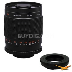 500M - 500mm f/8.0 Mirror Lens for Canon EOS