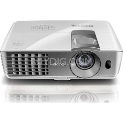 W1070 1080P 3D Home Theater Projector (Silver) - Refurbished