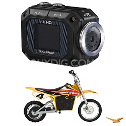 GC-XA1 ADIXXION Action Camcorder with Razor MX650 Dirt Bike and Mount