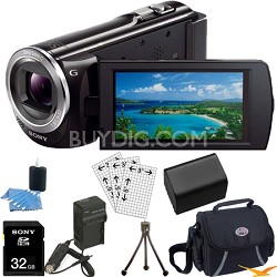HDR-CX380/B 16GB Full HD Flash Memory Camcorder Ultimate Bundle