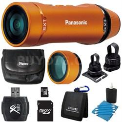 A1: Ultra-Light Wearable HD Action Camera (Orange) - HX-A1MD Bundle