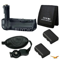 Essential BG-E11 Battery Grip Bundle for Canon EOS 5D Mark III SLR Camera