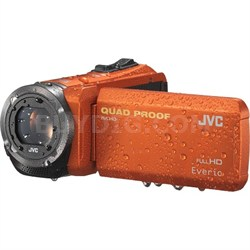 GZ-R320DUS Quad Proof Orange 40x Dynamic Zoom 60x Digital Zoom HD Camcorder