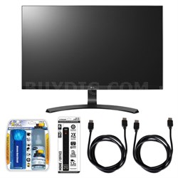 "27"" Screen LED-lit Monitor w/ Accessory Hook up Bundle"