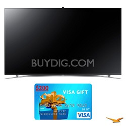 "UN65F8000 65"" 1080p 240hz 3D Smart WiFi LED HDTV Bundle"
