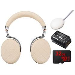 Zik 3 Wireless Noise Cancelling Bluetooth Headphones Ultimate Bundle (Ivory)