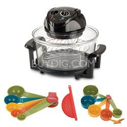 12 Qt. Halogen Tabletop Oven, Measuring Sets and Drainer Bundle