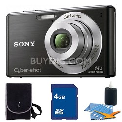 Cyber-shot DSC-W530 Black Digital Camera 4GB Bundle