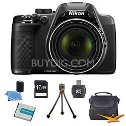 COOLPIX P530 16.1MP 42x Opt Zoom HD 1080p Digital Camera Black Kit