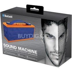 Sound Machine Portable Bluetooth Speaker with Built-in Mic (Blue/Orange)