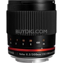 300mm F6.3 Mirror Lens for Sony E-Mount - Black