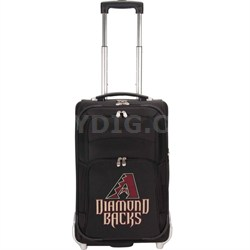 MLB 21-Inch Carry On Luggage, Black - Arizona Diamondbacks