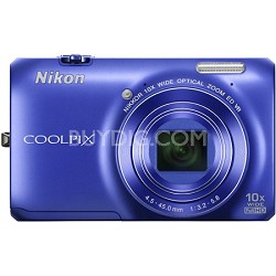COOLPIX S6300 16MP 10x Opt Zoom 2.7 LCD Digital Camera - Blue