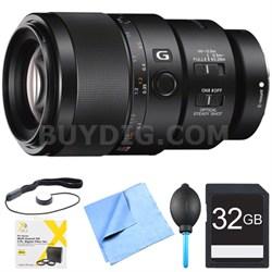 SEL90M28G - FE 90mm F2.8 Macro G OSS Full-frame E-mount Macro Lens Bundle