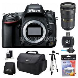 D600 24.3 MP CMOS FX-Format Digital SLR Camera Body 24-70mm Lens Kit
